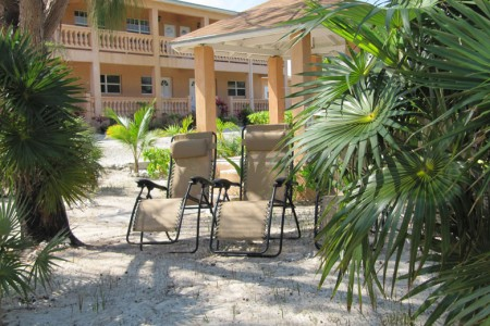 beach lounging at Cedar Palm vacation rental on North Caicos Turks and Caicos Islands